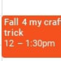 Fall for my crafty trick