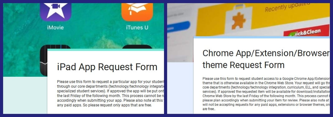 App request forms