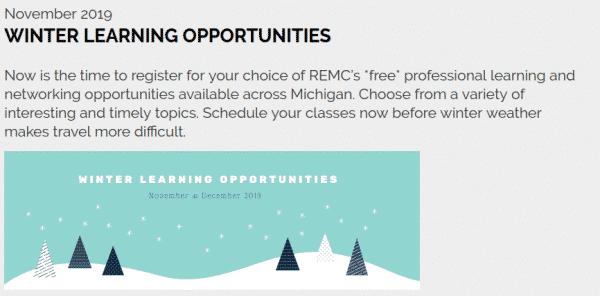 REMC Winter offerings