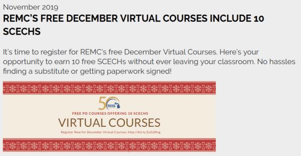 December virtual courses