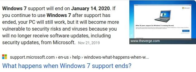 Windows 7 EOL
