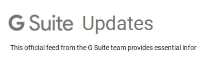 GSuite updates