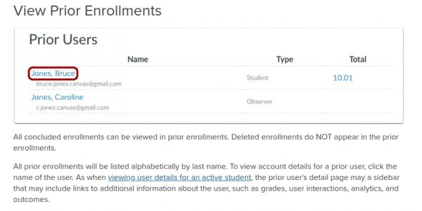 prior enrollments more