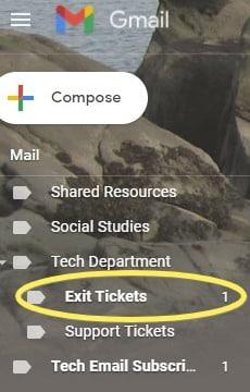 image of inbox label