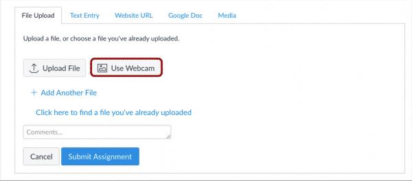 upload file webcam