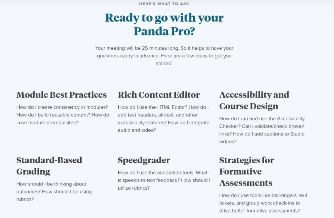 topic suggestions for panda pros meeting