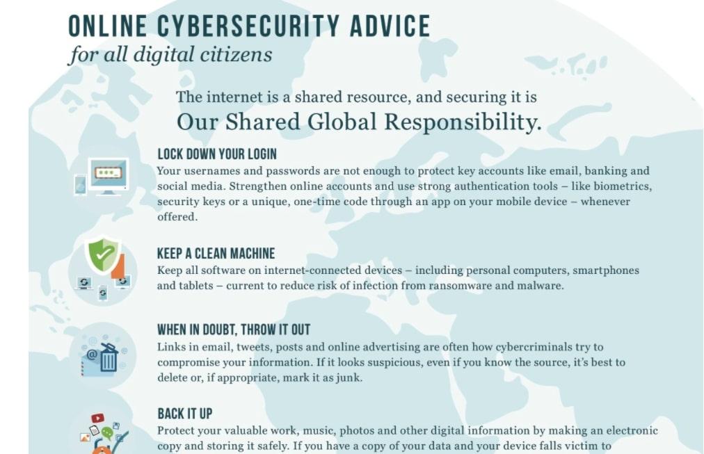 Cybersecurity advice